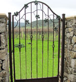 Decorative iron grape gate